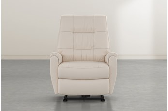 Rogan II Beige Leather Power Wallaway Recliner