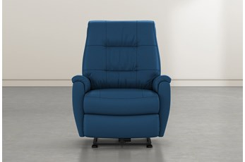 Rogan II Indigo Leather Power Wallaway Recliner