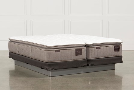 Scarborough Firm Euro Pillow Top Eastern King Split Mattress W/Low Profile Foundation