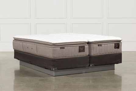 Scarborough Firm Euro Pillow Top Cal King Split Mattress W/Foundation