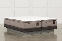 Scarborough Plush Euro Pillow Top Eastern King Split Mattress W/Low Profile Foundation
