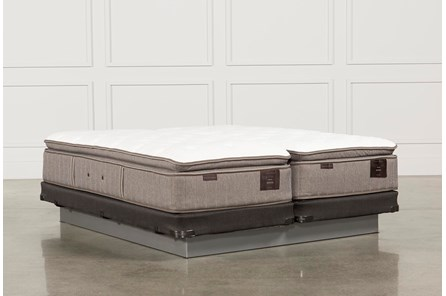 Scarborough Plush Euro Pillow Top Cal King Split Mattress W/Low Profile Foundation - Main