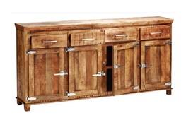 Sawan Finish 4-Drawer/4-Door Icebox Sideboard