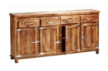 "Sawan Finish 4-Drawer/4-Door Icebox 80"" Sideboard"