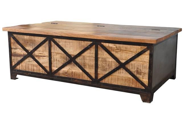 Wood & Iron Coffee Table - 360