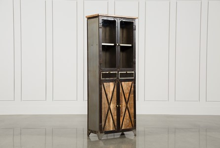 Wood & Iron 4-Door/2-Drawer Tall Cabinet