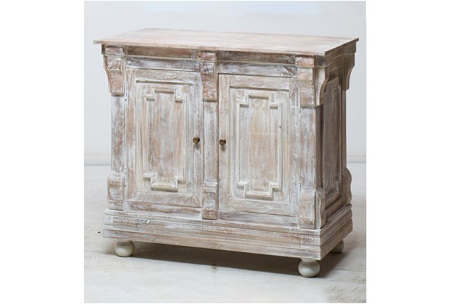 White Wash Finish 2-Door Server - 360