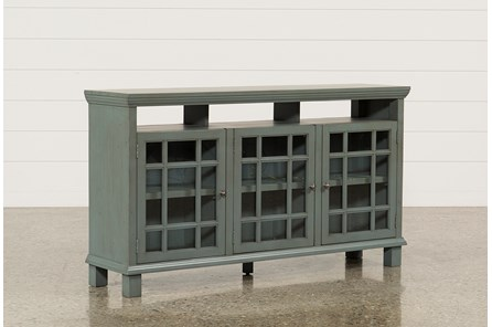 Elijah Slate Blue 65 Inch TV Stand - Main