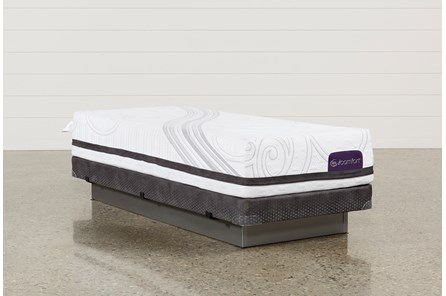 Savant III Firm Twin Extra Long Mattress W/Low Profile Foundation - Main