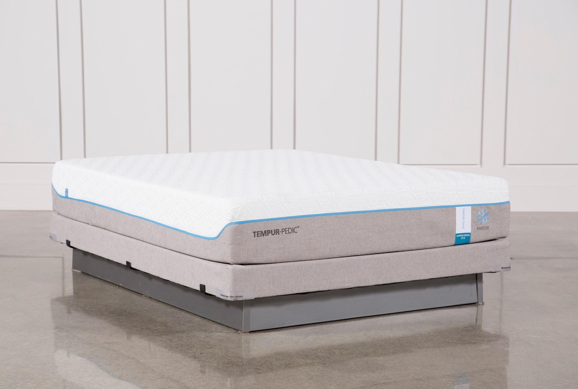 tempur pedic cloud supreme tempurpedic cloud supreme breeze 20 queen mattress wlow foundation 360