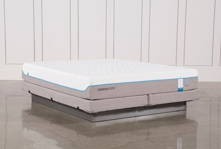 Tempur-Pedic Cloud Supreme Breeze 2.0 Cal King Mattress W/Low Profile Foundation