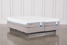 Tempur-Pedic Cloud Supreme Breeze 2.0 Cal King Split Mattresses W/Foundation