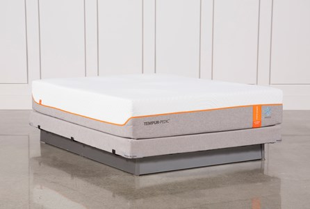 Tempur-Pedic Contour Elite Breeze 2.0 Queen Mattress W/Low Profile Foundation