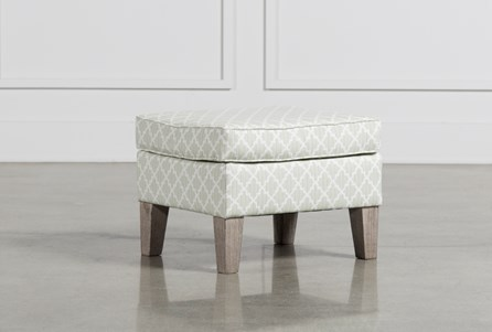 Bailey Ottoman W/Greywash Finish