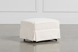 BAILEY SKIRTED GLIDER OTTOMAN