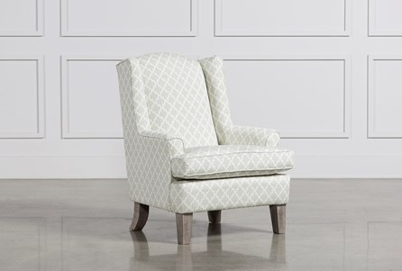 Bailey Flare Arm Wing Club Chair W/Greywash Finish