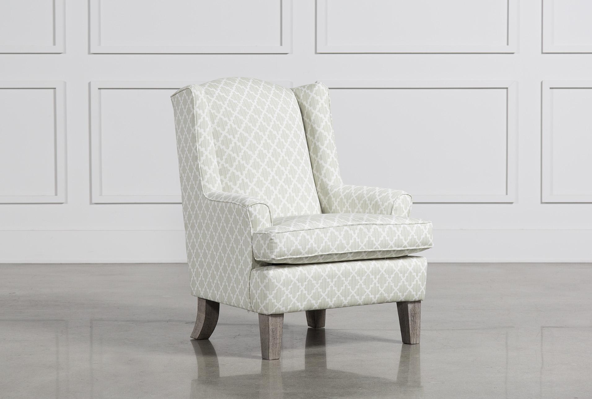 Bailey Flare Arm Wing Club Chair W/Greywash Finish   360