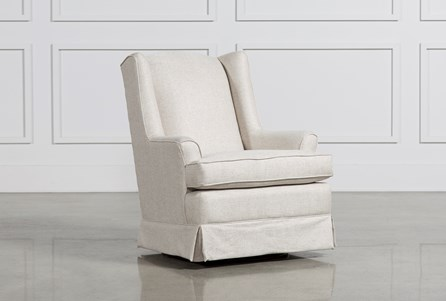 Bailey Flare Arm Wing Skirted Swivel Glider
