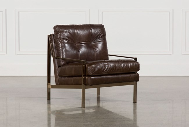 Bryce Leather Accent Chair - 360