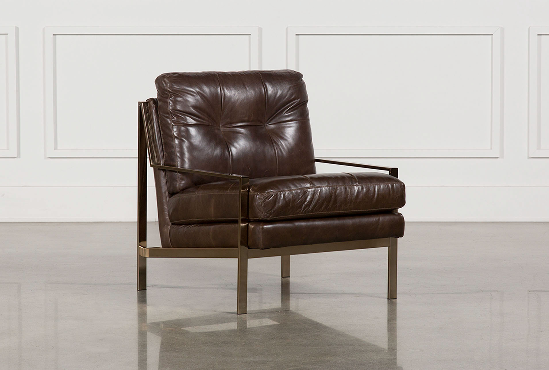 Bryce Leather Accent Chair   360