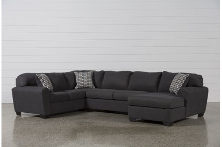 Sorenton Slate 3 Piece Sectional W/Right Arm Facing Chaise - Main