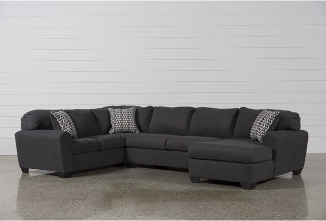 Sorenton Slate 3 Piece Sectional W/Right Arm Facing Chaise - 360