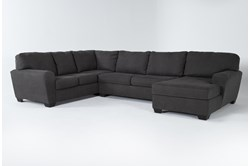 Sorenton Slate 3 Piece Sectional With Right Arm Facing Chaise