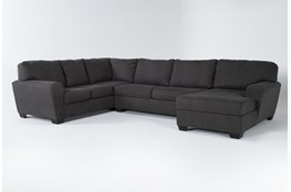 """Sorenton Slate 3 Piece 143"""" Sectional With Right Arm Facing Chaise"""
