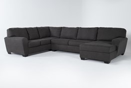 Sorenton Slate 3 Piece Sectional W/Right Arm Facing Chaise