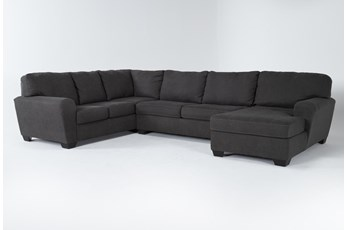 "Sorenton Slate 3 Piece 143"" Sectional With Right Arm Facing Chaise"
