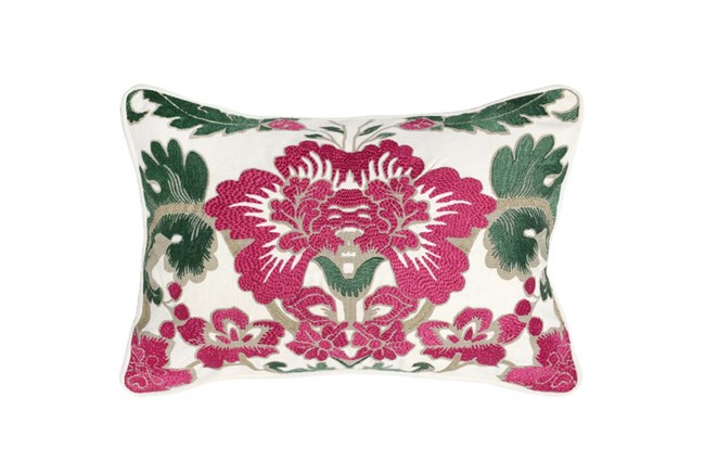 Accent Pillow-Fuschia Floral 14X20 - 360