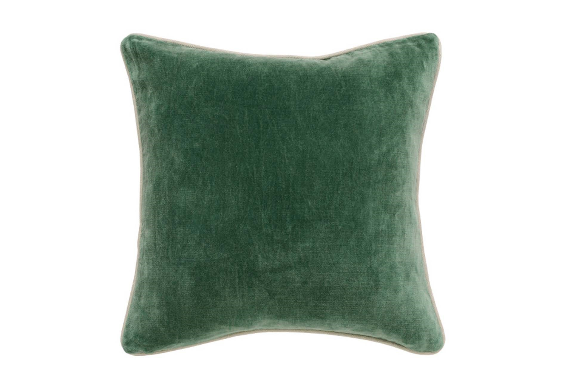 Accent Pillow-Green Washed Velvet 18X18 Living Spaces