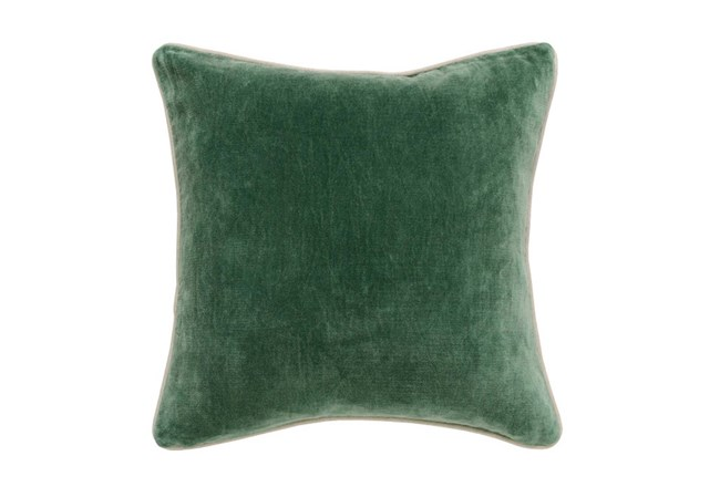 Accent Pillow-Green Washed Velvet 18X18 - 360