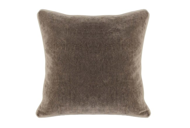 Accent Pillow-Mushroom Washed Velvet 18X18 - 360