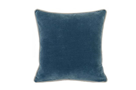 Accent Pillow-Marine Washed Velvet 18X18 - Main