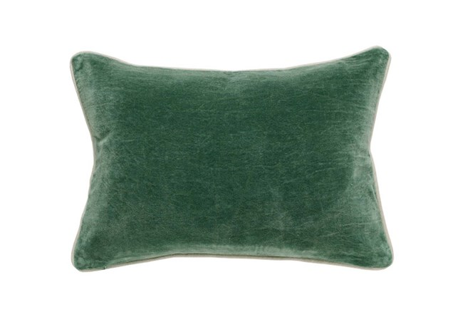 Accent Pillow-Green Washed Velvet 14X20 - 360