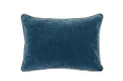 14X20 Marine Teal Blue Stonewashed Velvet Lumbar Throw Pillow