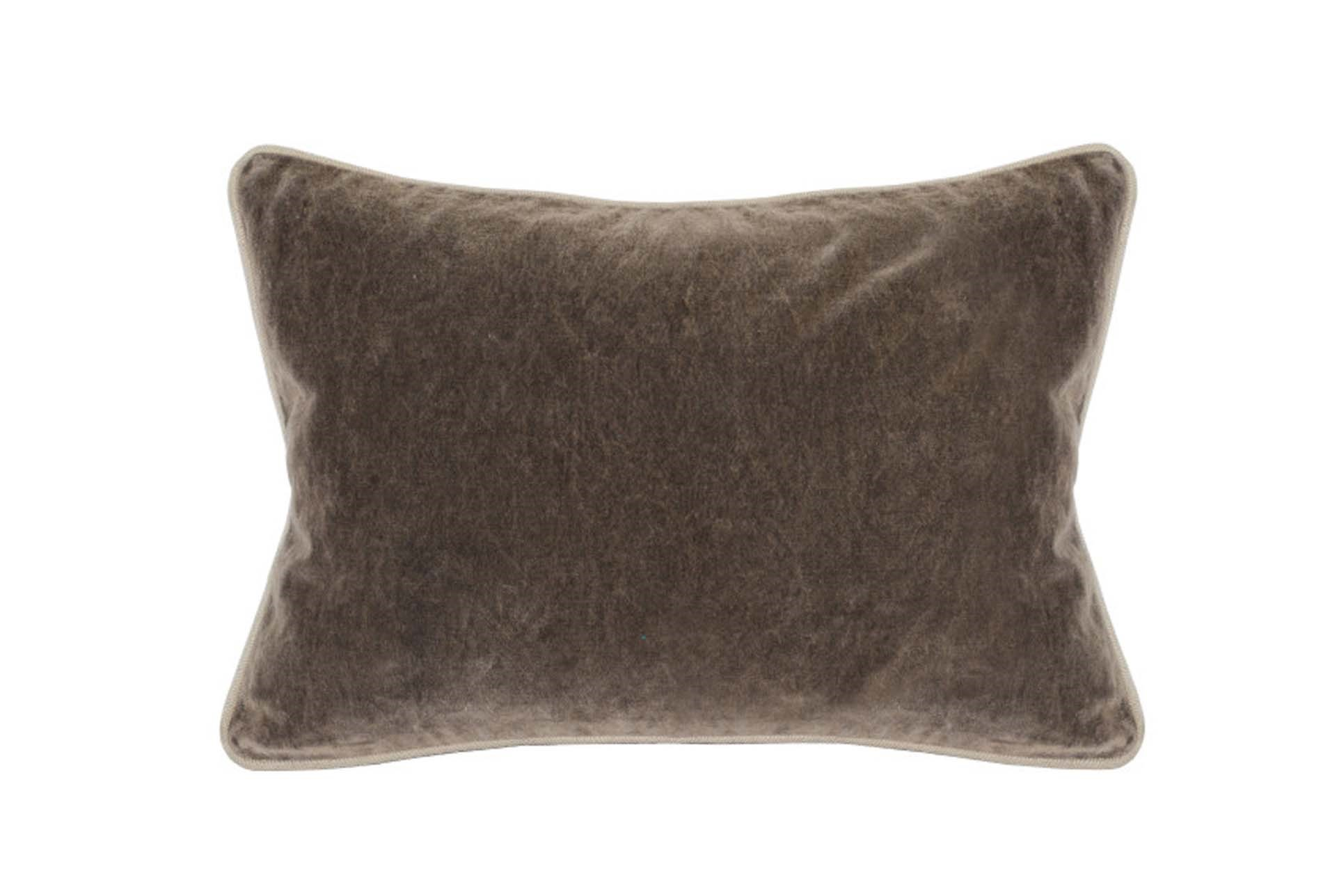 Decorative Pillows Living Spaces : Accent Pillow-Mushroom Washed Velvet 14X20 Living Spaces