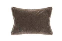 14X20 Desert Brown Stonewashed Velvet Lumbar Throw Pillow
