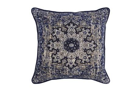 Accent Pillow-Indigo Medallion 22X22 - Main