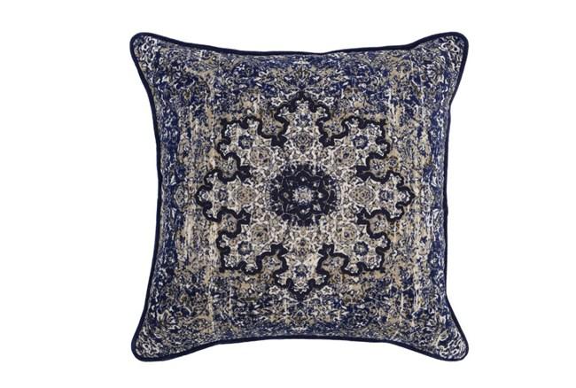 Accent Pillow-Indigo Medallion 22X22 - 360