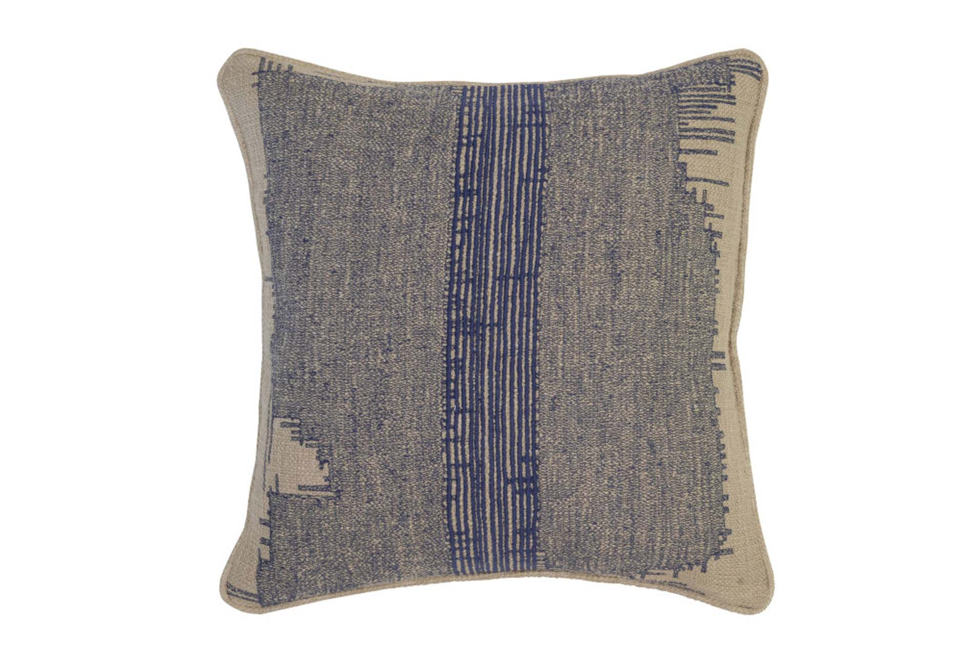 Accent Pillow Indigo Washed Out Stripe 22X22   360