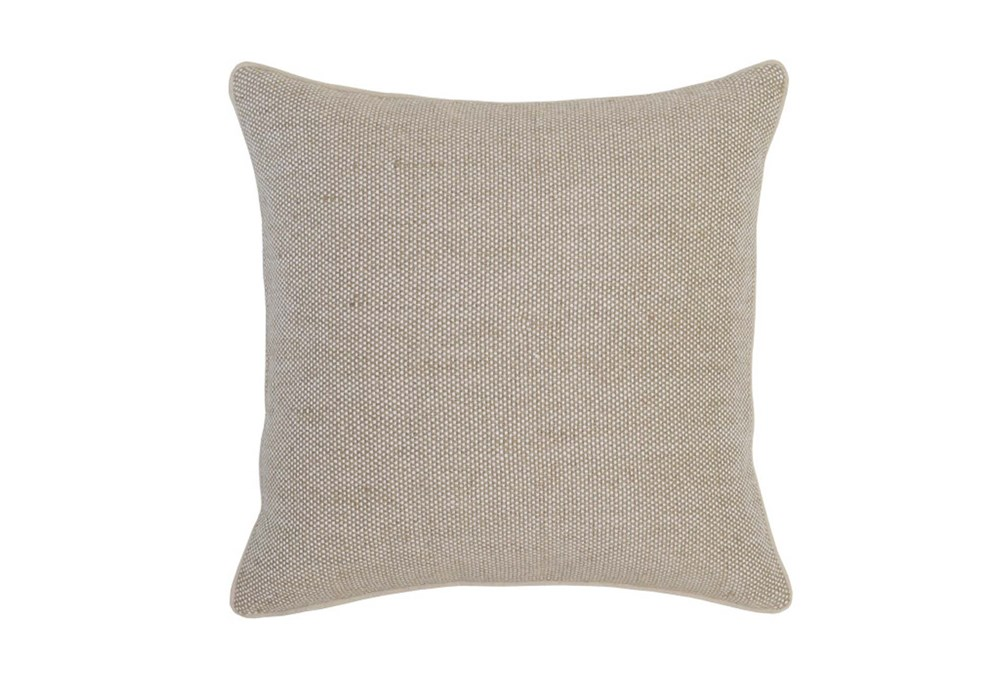 Accent Pillow-Natural Linen Texture 22X22