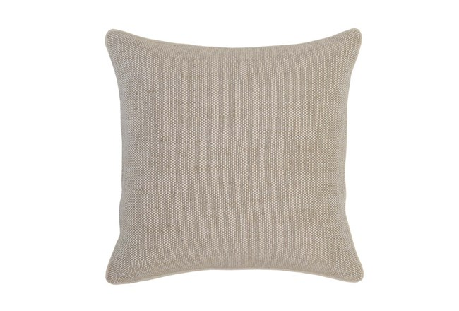 Accent Pillow-Natural Linen Texture 22X22 - 360
