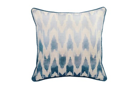 Accent Pillow-Peacock Ombre Ikat 22X22 - Main