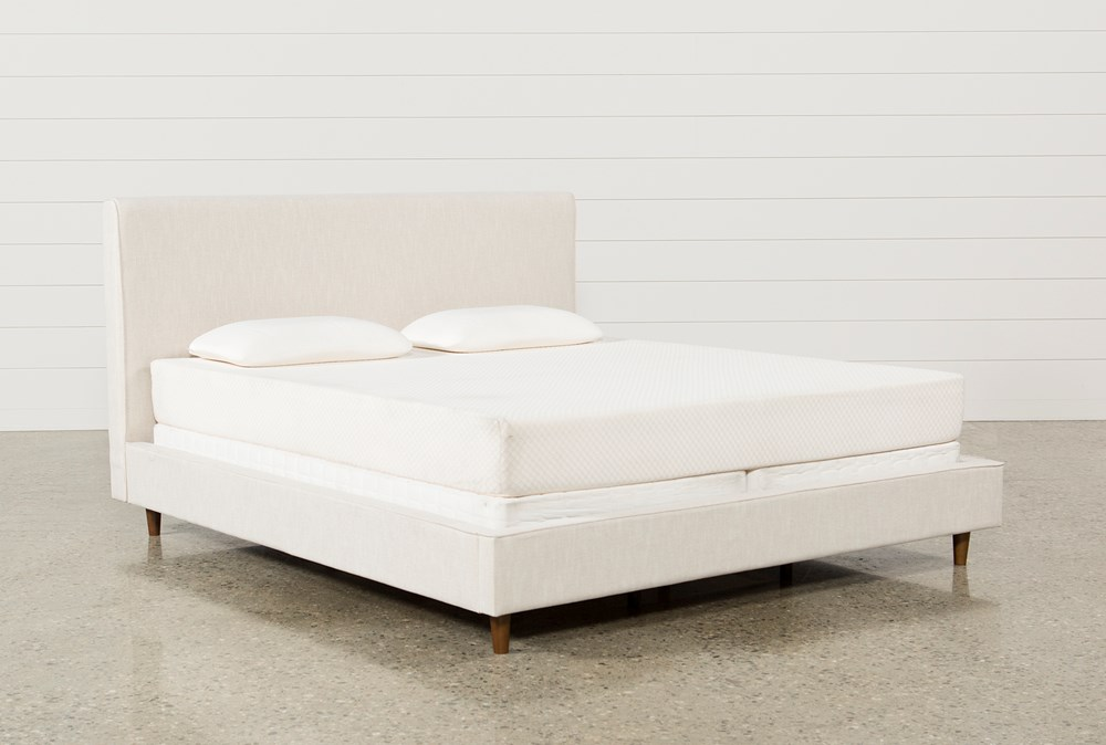 Dean Sand California King Upholstered Panel Bed
