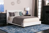Dean Sand Queen Upholstered Panel Bed - Room