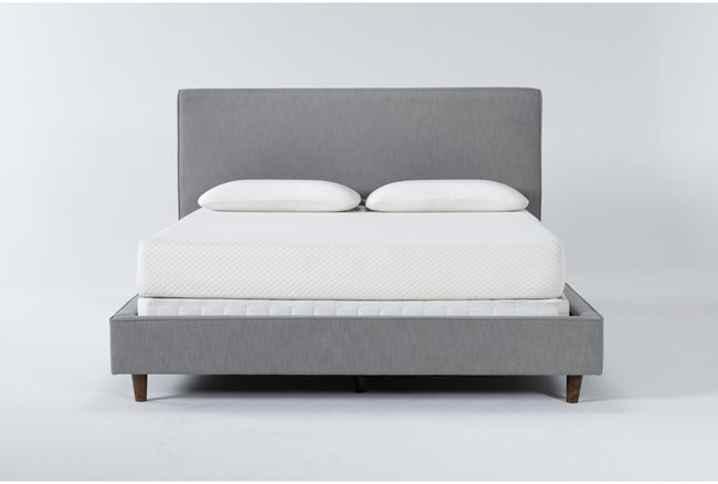 Dean Charcoal California King Upholstered Panel Bed - 360