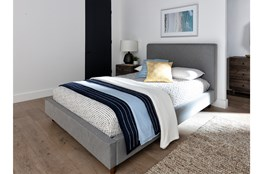 Dean Charcoal California King Upholstered Panel Bed