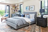 Dean Charcoal Queen Upholstered Panel Bed - Room